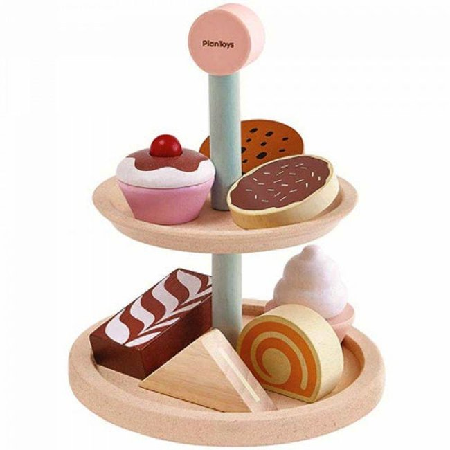 Plan Toys Houten High Tea Set met Etagère
