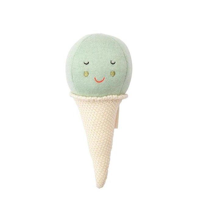 Meri Meri Baby Rammelaar Ice Cream | Mint