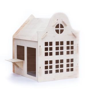 Wool&Woodies Speelhuisje Klokgevel | 120 cm hoog