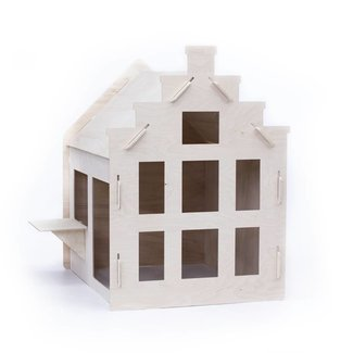 Wool&Woodies Speelhuisje Trapgevel | 120 cm hoog