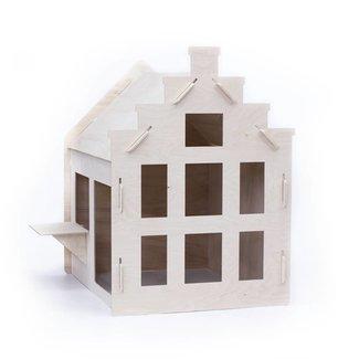 Woonlief Speelhuisje Trapgevel | 120 cm hoog