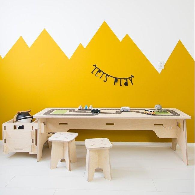 Wool&Woodies Speeltafel | Print Wegen
