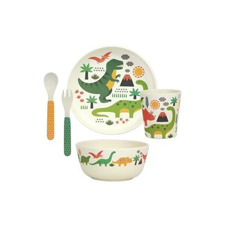 Petit Collage Bamboo Dino | Eco Dinner Set