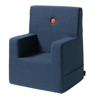 by KlipKlap Kinderstoel - KK Kids Chair XL | Dark Blue with Orange
