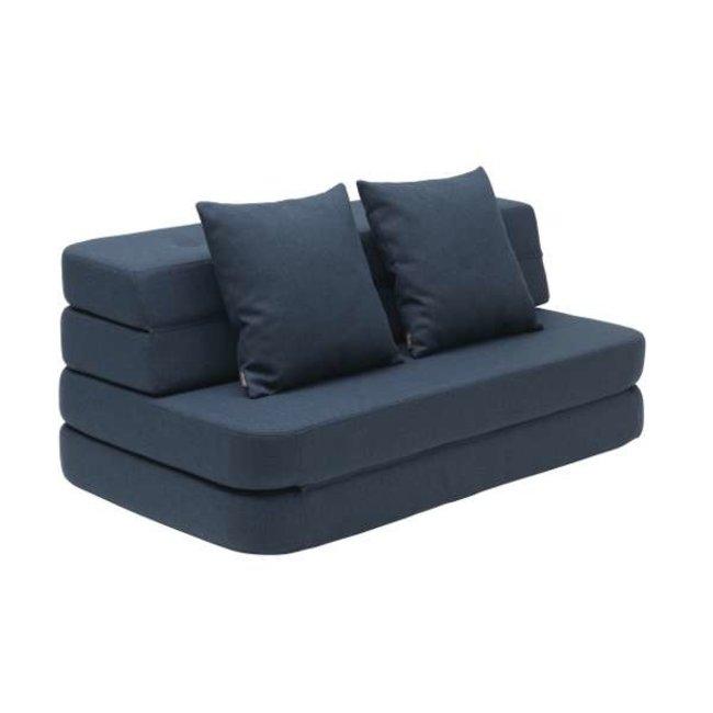 by KlipKlap Opvouwbare Bank - KK 3 Fold Sofa XL Soft | Dark Blue w. Black