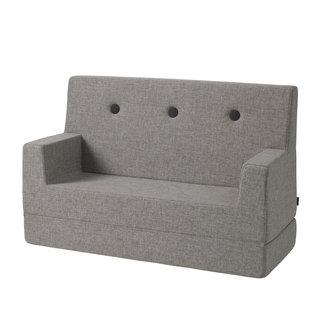 by KlipKlap Kinderbank - KK Kids Sofa | Multi Grey with Grey