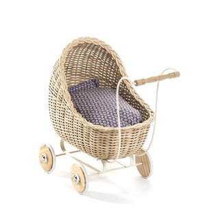 Smallstuff Rotan Poppenwagen | Naturel