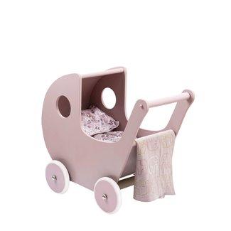 Smallstuff Houten Poppenwagen | Roze