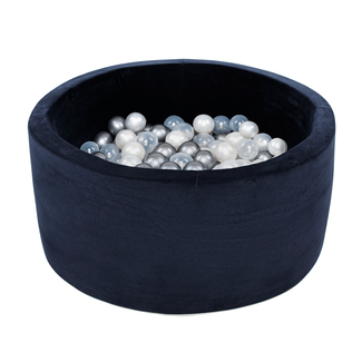 Misioo Ballenbad XL Rond 90x40 | Velvet Navy Blue