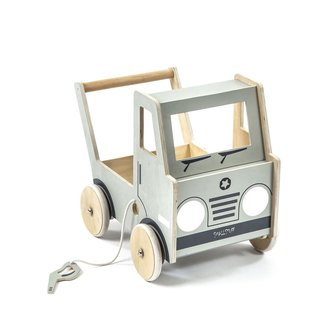 Smallstuff Houten Loopwagen Truck | Grijs