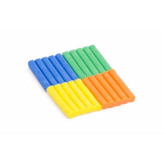 Les Jouets Libres Bijenwas klei | Oranje, Blauw, Groen, Geel Glitter