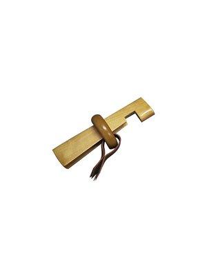 houten lijmklem met beschermingsleertje