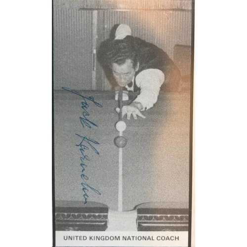 Unieke snookerlijst persoonlijk gesigneerd Jack Karnehm