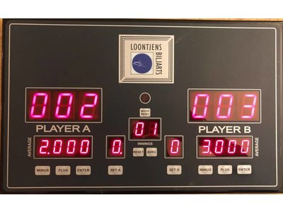 Electronisch Scoredisplay 2 players / manual