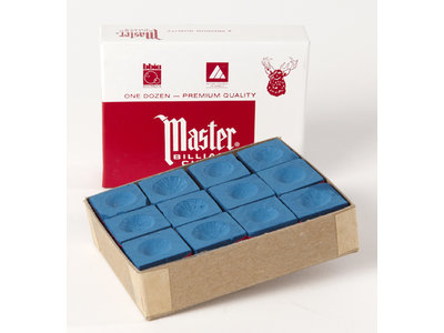 Master biljart krijt  doosje van 12 stuks