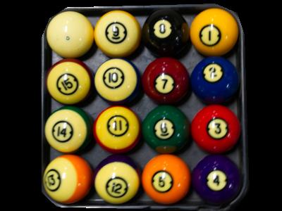 Gebruikte Pool ballen set 57.2 mm