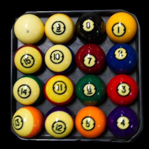 Used Pool bals set 57.2 mm