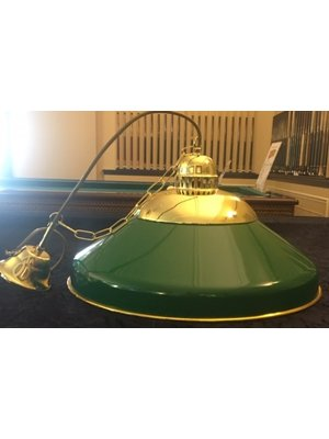Solo lamp messing/groen