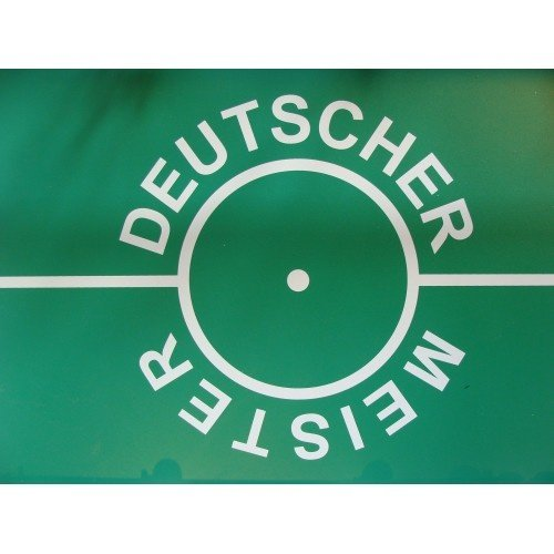 Deutscher Meister  Voetvaltafel Profi rood