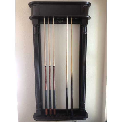 Brunswick Montebello  wall cue rack  walnut wood