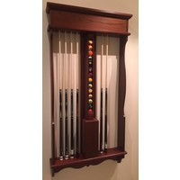 classic wall cue rack pool