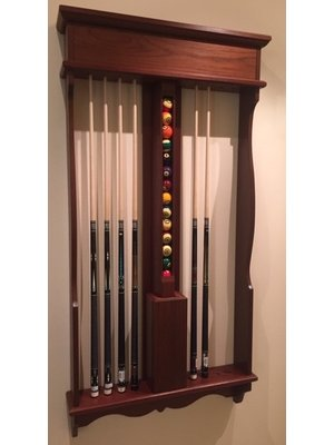 Roothaert classic wall cue rack pool