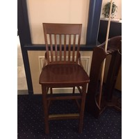classic players-bar chair in light mahogany