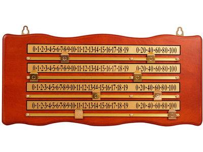 scorebord snooker 4 spelers