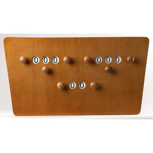 Vlinder scorebord 2 personen + beurten