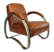 Bronx71 Industriële fauteuil Collin cognac leer