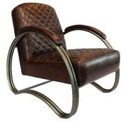 Bronx71 Industriële fauteuil Collin bruin leer