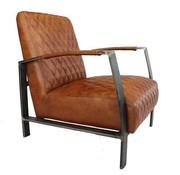 Bronx71 Industriële fauteuil Jayson cognac leer