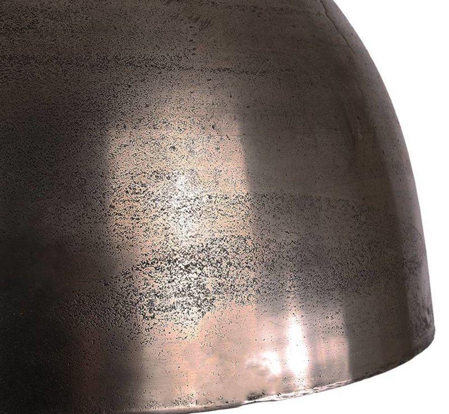 Industriële hanglamp Boston Raw Nickel 44 cm