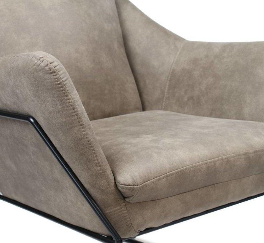 Industriële fauteuil Valencia taupe
