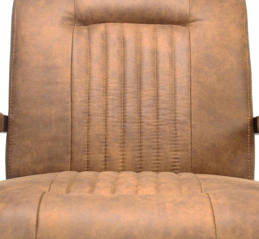 Industriële fauteuil Austin cognac