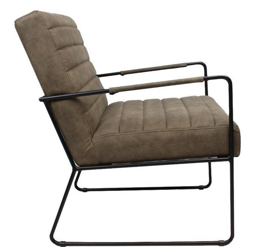 Industriële fauteuil Sevilla taupe