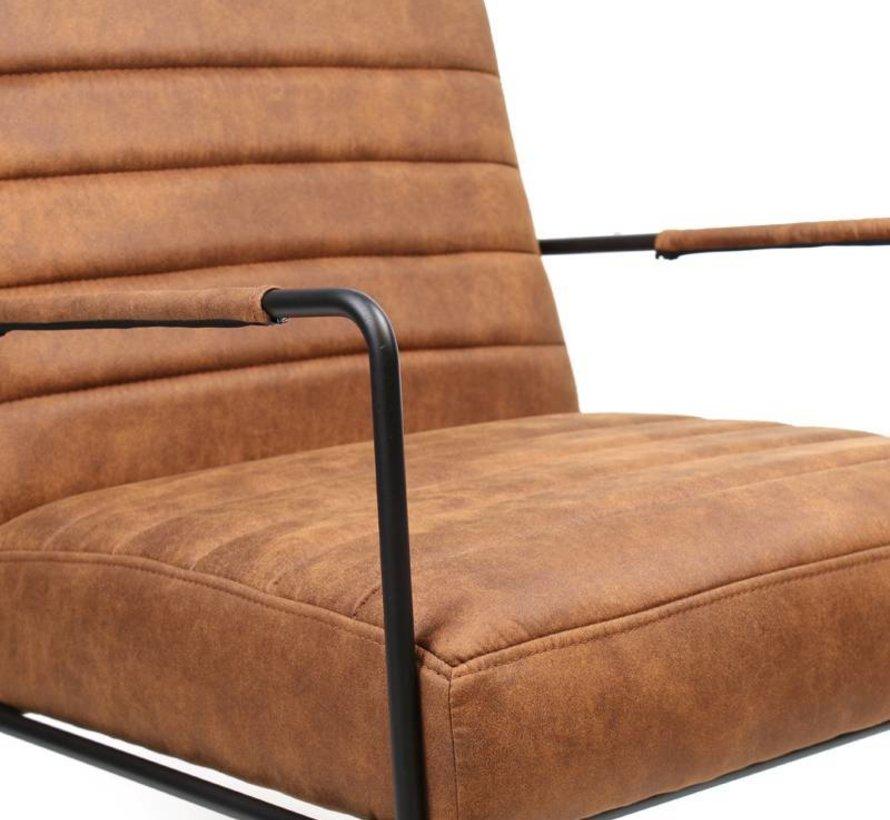 Industriële fauteuil Sevilla cognac