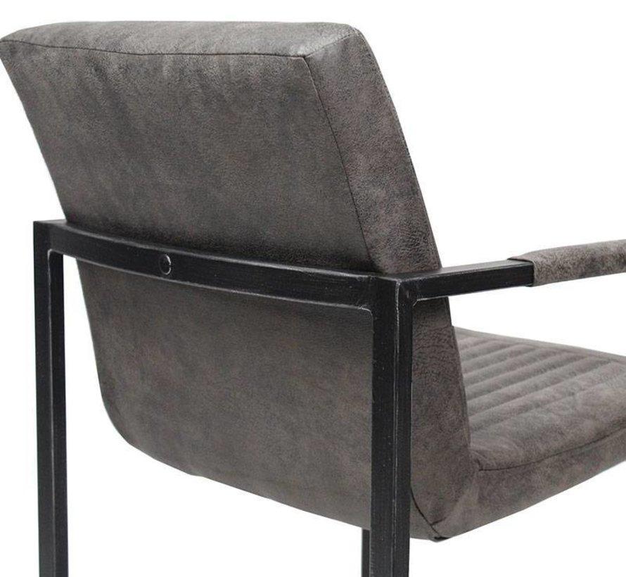 Industriële stoel Milano bruin