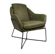 Industriële fauteuil Valencia olijfgroen