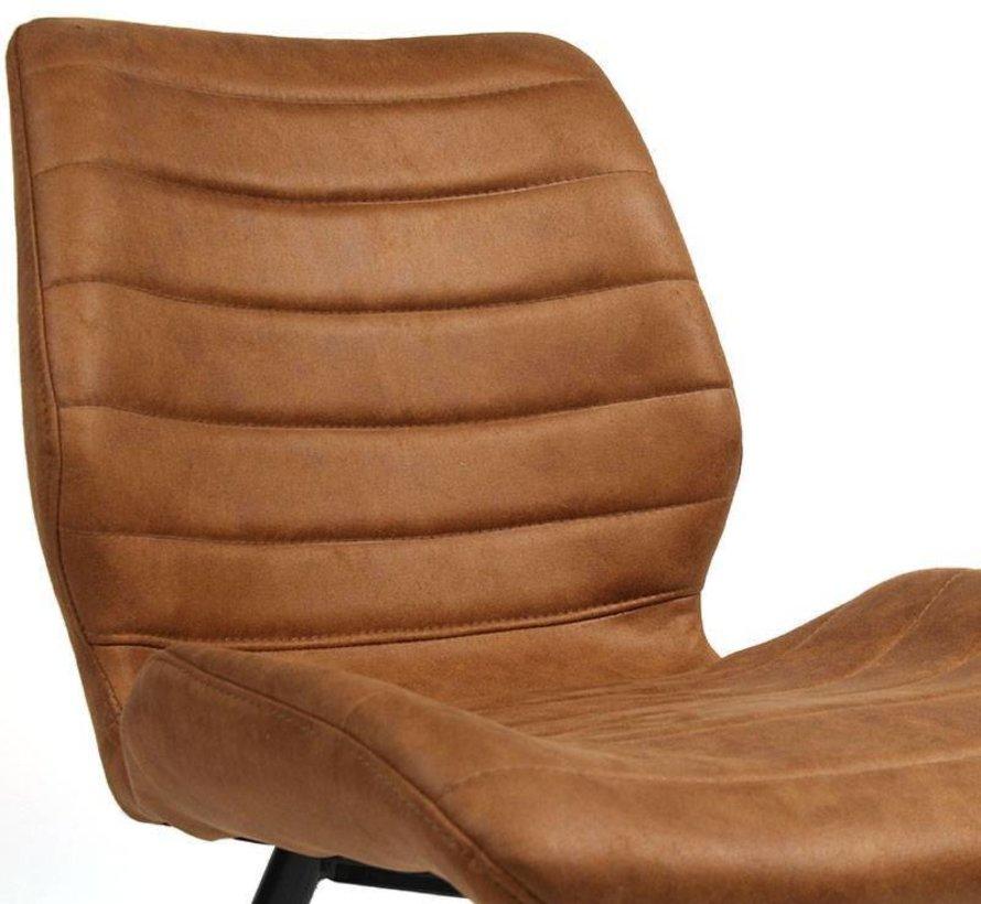 Industriële stoel Morris cognac