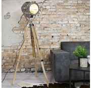 Bronx71 Industriële vloerlamp Detroit hout metaal