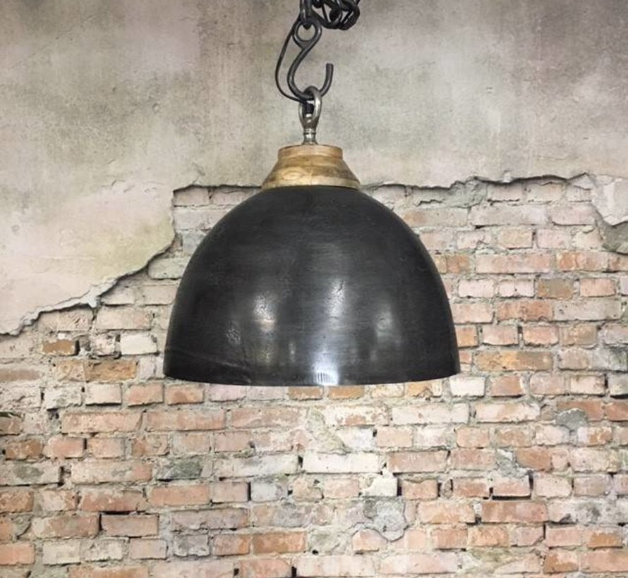 Hanglamp Boston Raw Nickel 44 cm