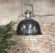 Bronx71 Industriële hanglamp Miami Raw Nickel 46 cm