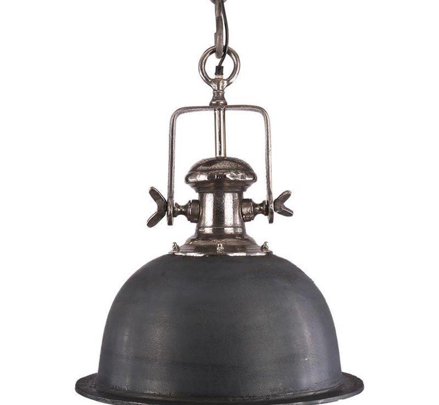 Industriële hanglamp Miami Raw Nickel 46 cm