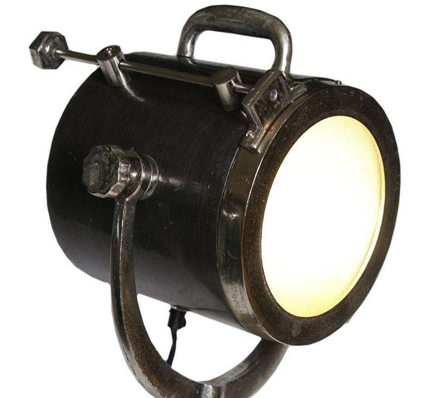 Vloerlamp Brooklyn raw nikkel