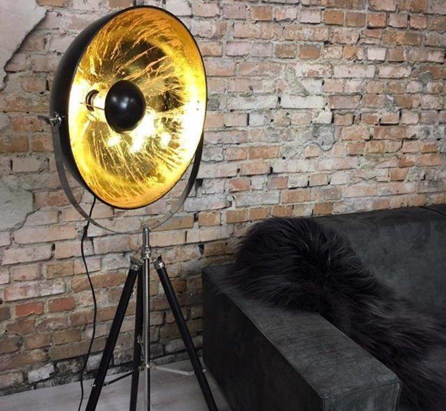 Vloerlamp Sun City zwart goud