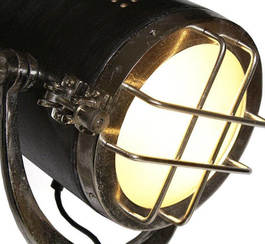 Vloerlamp Chicago Raw nikkel