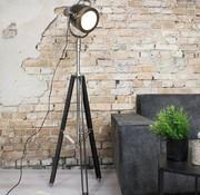 Bronx71 Industriële vloerlamp  New York Raw nikkel