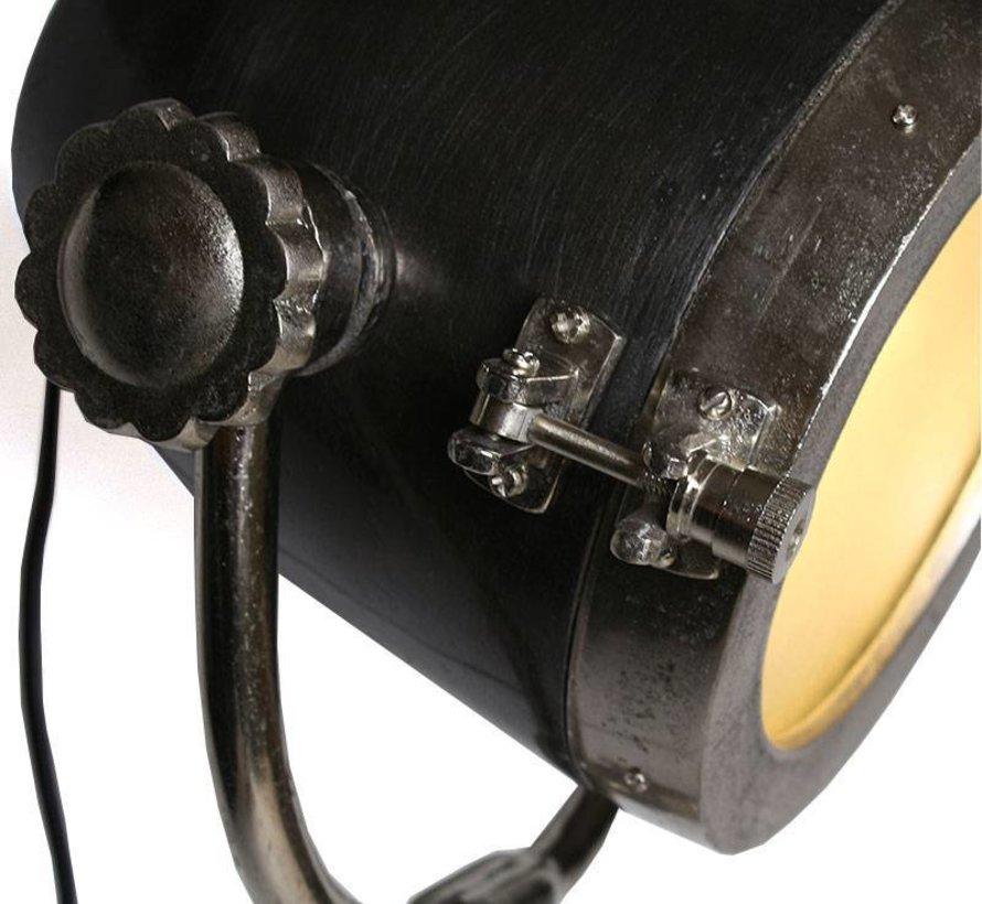 Industriële vloerlamp  New York Raw nikkel