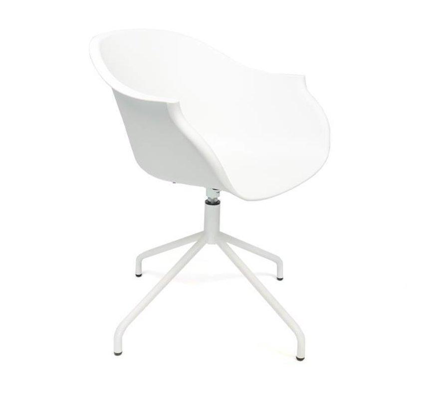 Scandinavische stoel May wit 360° draaibaar